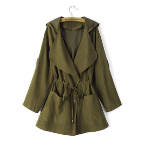 Nesa Fashion Long Jackets And Coats Female Coat Casual Army Green Bomber Jacket Women Basic Outwear JacketsS-XL