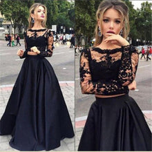 Load image into Gallery viewer, Nesa Fashion Women Chiffon Solid colors  Pretty Vestidos Famale elegant Lace Hollow Out Dress Long Sleeve Long Party Dress