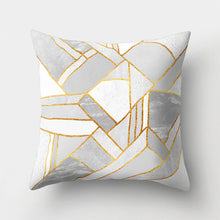 Load image into Gallery viewer, WINLIFE Geometric Pillow 45x45cm Marble Texture Throw Pillow Case for Home Decor