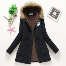 Load image into Gallery viewer, Nesa Fashion Winter Coat Women Casual Outwear Military Hooded Thickening Cotton Coat Winter Jacket Women Fur Clothes