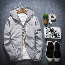 Load image into Gallery viewer, Hot Sale Thin Windbreaker Jacket Men Brand Spring Slim Fit Young Men Hooded bomber jackets Plus Size S-4XL jaqueta masculina
