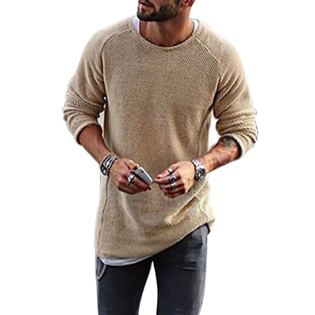 VERTVIE 2018 Autumn Knitting Sweater Men Fashion Long Sleeve Sweaters Casual Classic Solid Christmas Pullover Male Streetwear