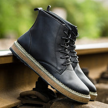 Load image into Gallery viewer, Brand Fashion Men Winter Autumn Keep Warm Boots PU Ankle Boot Working Shoes Men Boots Big Size 39~44896