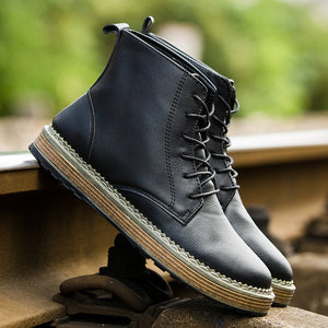 Brand Fashion Men Winter Autumn Keep Warm Boots PU Ankle Boot Working Shoes Men Boots Big Size 39~44896