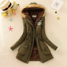 Load image into Gallery viewer, Nesa Fashion Winter Big Fur Collar jacket  fashion plue size hooded coat outerwear Female Thickening Warm Down Jacket ladies slim parka
