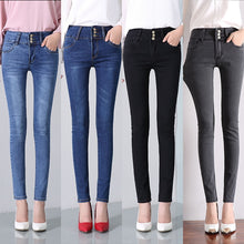 Load image into Gallery viewer, New Skinny Jeans Woman Pantalon Femme Denim Pants Strech Womens Colored Tight Jeans With High Waist Women's Jeans High Waist
