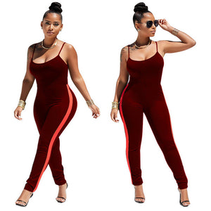 New 2018 Women Summer Sexy Jumpsuit Clubwear Suspenders Bodycon Jumpsuit Sleeveless Club Romper Long Trousers Fitness Jumpsuits
