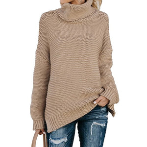 Pullover Womens Jumper Turtleneck Sweater Women Warm Sweater Thick Winter Cable Knitted Female Jumper Oversized Sweater