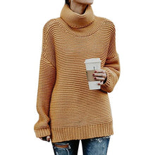 Load image into Gallery viewer, Pullover Womens Jumper Turtleneck Sweater Women Warm Sweater Thick Winter Cable Knitted Female Jumper Oversized Sweater