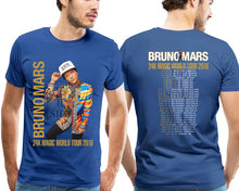 Load image into Gallery viewer, New Bruno Mars 24K Magic World Tour 2018 T Shirt Men'S Black Size S To 4Xl