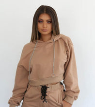 Load image into Gallery viewer, Nesa Fashion Women Tracksuit  Autumn  Winter Fashion New Hooded Sweatshirt Long Sleeve Crop Top And Pants Suit Two Piece Clothing Set