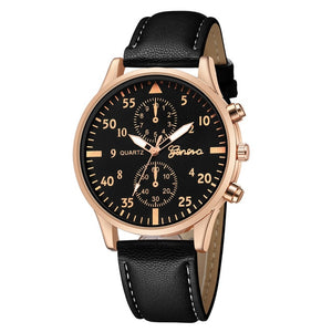 NESA FASHION - Mens Watches Top Brand Luxury 2018 Geneva Watch Men Fashion Business Quartz-watch Minimalist Belt Male Watches Relogio Masculino