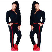 Load image into Gallery viewer, Two Piece Set 2017 Fashion Winter Tracksuit Women Full Sweat Suits Long Sleeve Top + Pants 2 Piece Set Women