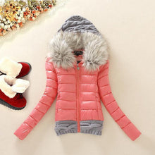Load image into Gallery viewer, Winter Cotton Coats Women Parkas Casual Slim Hooded Basic Jacket Coat Ladies Inverno Wadded Plus Size 2018 Female