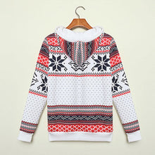 Load image into Gallery viewer, Fall Winter Christmas Hoodie Women Ladies Xmas Snowflake Sweatshirt Jumper Hooded Pullover Tops Hot Sale Clothes