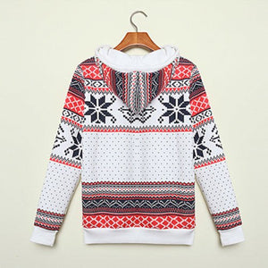 Fall Winter Christmas Hoodie Women Ladies Xmas Snowflake Sweatshirt Jumper Hooded Pullover Tops Hot Sale Clothes