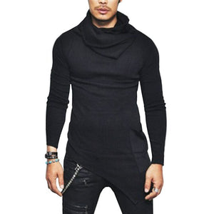 Nesa Fashion Autumn Winter Turtleneck Sweater Men Casual Knitted Sweaters Mens Long Sleeve Pullovers