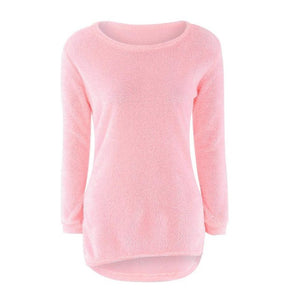 Nesa Fashion - Womens Casual Solid Long Sleeve Jumper Sweaters christmas sweater winter clothes
