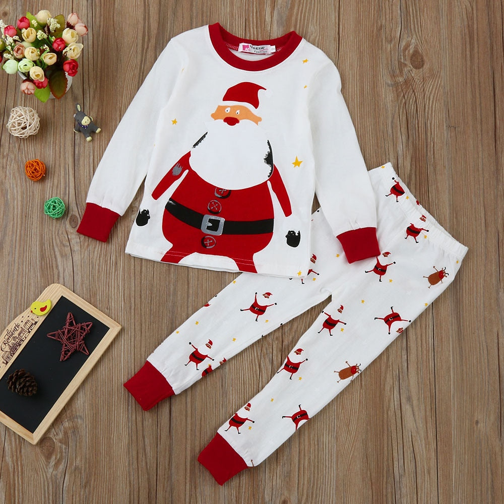 Nesa Fashion Xmas Newborn Infant Baby Boy Girl Sweater Cothes Tops+Pants Christmas Home Sweaters Festival Children's Outfits Pajamas Set