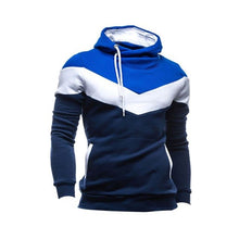 Load image into Gallery viewer, Nesa Fashion Winter Men Patchwork Long Sleeves Belt O-Neck Warm Hoodie Pullover Slim Outwear Hoddies