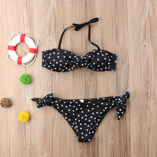 Load image into Gallery viewer, Nesa Fashion Sexy Women Strapless bandage Bandeau Push Up dot printed Bikini Set lace up female summer Swimwear swimsuit beachwear