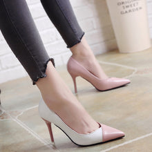 Load image into Gallery viewer, Nesa Fashion women cute sweet high quality leather office high heel shoes lady casual street & office high heel shoes sexy shoes