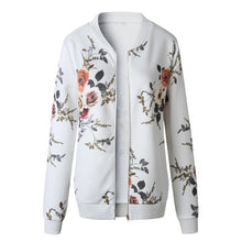 Load image into Gallery viewer, Nesa Fashion Women Spring Autumn Retro Floral Zipper Up Bomber Jacket Casual Coat Outwear Casaco Feminino Female Jacket Coat