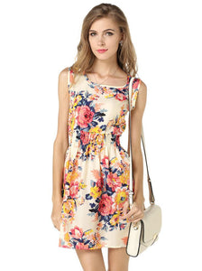 Nesa Fashion Ladies Print Casual Female Style Fashion Office Women Clothing Cheap Bohemian Summer Beach Sleeveless Dress