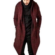 Load image into Gallery viewer, Nesa Fashion men's  jacket coat fashion casual hooded irregular hem coat Halloween Christmas trench windbreaker