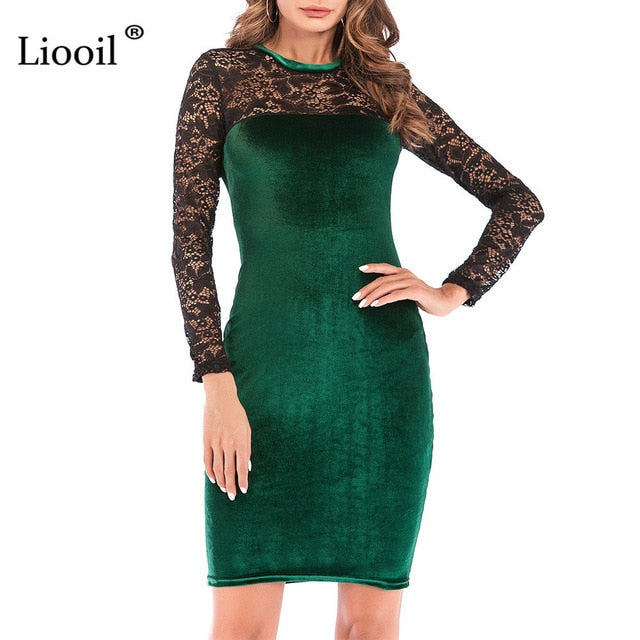 Nesa Fashion Sexy Dress Women New  Casual Womens Clothing Red Green Black Midi Bodycon Party Dresses