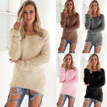 Load image into Gallery viewer, Nesa Fashion Autumn Winter Women's o-Neck Sweater Women Loose Pullover Casual Sweater Cheap Wholesale Drop Ship