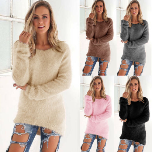 Nesa Fashion Autumn Winter Women's o-Neck Sweater Women Loose Pullover Casual Sweater Cheap Wholesale Drop Ship