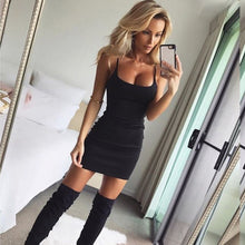 Load image into Gallery viewer, Nesa Fashion Summer Women Dress Off Shoulder Sexy Ladies Sleeveless Elegant Slim Bodycon Dress Club Party Night Club Wrap Dress