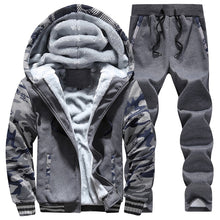 Load image into Gallery viewer, Nesa Fashion New Winter Tracksuits Men Set Thick Fleece Hoodies+Pants Suit Zipper Hooded Sweatshirt Sportswear Set Male Hoodie Sporting Suits