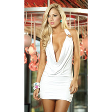 Load image into Gallery viewer, Nesa Fashion Sexy Women  Deep V Neck Short Mini Dress Baby-doll Nightwear Sleepwear Club-wear Backless Slim Fit One Size Mini Dress