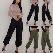 Load image into Gallery viewer, Nesa Fashion Women Harem Hip Hop Baggy  Long Loose Pants Fashion Cargo Female Girls Pants Plus Size S-3XL