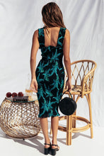 Load image into Gallery viewer, Nesa Fashion Women Floral Print Backless Bodycon Dress Sexy Wide Strap Elastic Bust Slim Party Dress Elegant Summer Ruffles Midi Beach Dress