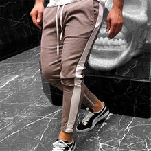 Load image into Gallery viewer, Nesa Fashion Men Plaid Casual Pant Male White Side Streetwear Fashion Hip Hop Harem Trousers Elastic Waist Jogger Sweatpants Size M-XXL
