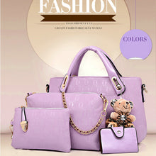 Load image into Gallery viewer, Nesa Fashion 4 Piece Set PU Leather Composite Bag Women Bag Top-Handle Bags Female Famous Brand  Women Girls Messenger Bags Handbag Cross-body