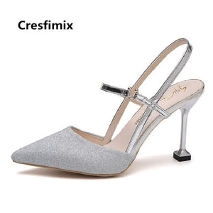 Club Sexy Fashion Night Silver Sweet Heel Wedding Heels Shining Lady Nesa Party Golden Shoes High Women 5AS3jqc4RL