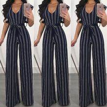 Load image into Gallery viewer, Nesa Fashion Women Club wear Play-suit Bodysuit Party Jumpsuit Romper Chiffon Long Trousers US