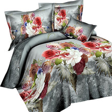 Load image into Gallery viewer, Nesa Fashion Bedding Set flower 4PCS rose print luxury Bed linen for Duvet Cover Pillowcase Bedclothes Room Decoration home textile