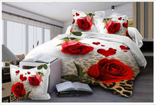 Load image into Gallery viewer, Nesa Fashion New Beautiful 3D Flower Rose Feast Pattern Bedding Set Bed sheets Duvet Cover Bed sheet Pillowcase 4pcs/set9