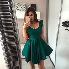 Load image into Gallery viewer, Nesa Fashion Womens Female Sleeveless V Neck Party Cocktail Ladies Mini Dress