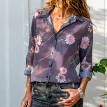 Load image into Gallery viewer, Nesa Fashion Women Shirts Floral Print Ladies Long Sleeve Shirt  Blouses Women