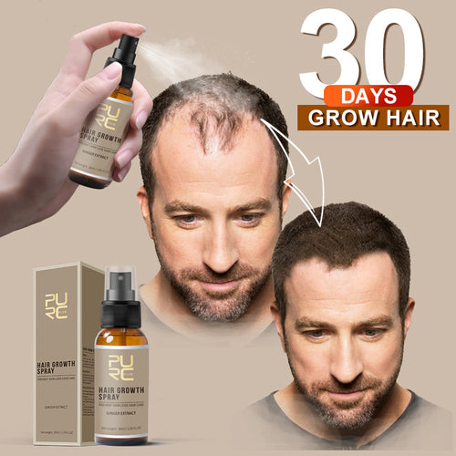New PURC 30ml Hair Growth Spray Ginger Essence Spray Effective Extract Anti Hair Loss Nourish Roots For Men TSLM2
