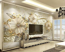 Load image into Gallery viewer, Nesa Fashion  Interior classic wall paper luxury gold 3D stereo European pattern jewelry TV background papel de parede 3d wallpaper