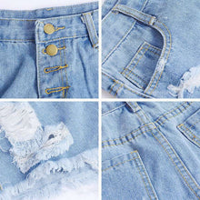 Load image into Gallery viewer, Nesa Fashion High Waist Denim Shorts Women Hole Ripped Summer Street wear Female Casual Shorts