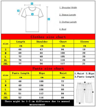 Load image into Gallery viewer, Nesa Fashion 2 Piece Set Tracksuit Men Sets Male Sweatshirt Pants Summer Men's Cropped T Shirt Shorts Casual Suits Sportswear Mens Clothing