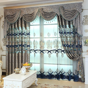 Nesa Fashion New High Quality Embroidered Luxury Curtains Window For living Room Bedroom Kitchen Tulle Curtains Valance Drapes
